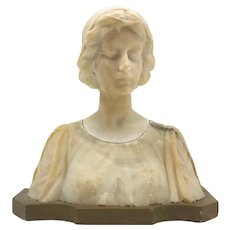 French Art Nouveau Alabaster Bust