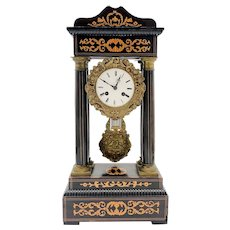 Antique French Empire Portico Clock