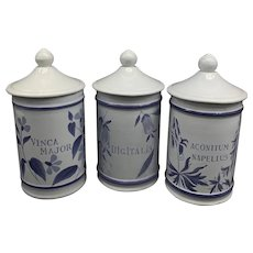 Vintage French Apothecary Jars