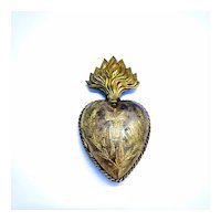 Antique Ex Voto French Sacred Heart