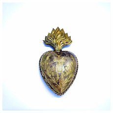 Antique Ex Voto French Sacred Heart