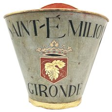 Vintage French Grape Pickers Wine Hod