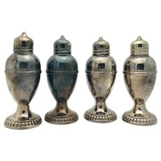 Set of Four Birks Sterling Silver Salt and Pepper Shakers