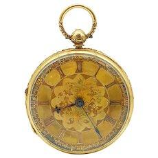 Antique c. 1776 18k Verge Fusee English Pocketwatch