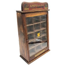 Antique Ampollina Dye Countertop Store Display Case circa 1920