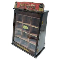 Antique Ampollina Dye Countertop Store Display Case