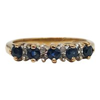 $1050 10k Yellow Gold Sapphire and Diamond Ring 0.44TCW