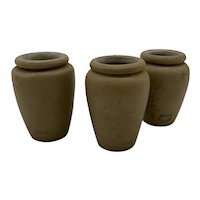 French Stoneware Cream Pots