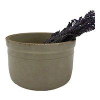 French Large Stoneware Crock Preserve Pot