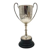 c. 1907 Large Sterling Silver English Trophy