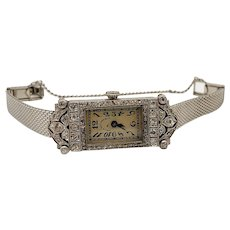 Patek Philippe Art Deco Platinum and Diamond Ladies Wristwatch