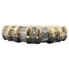 $4825 14k Yellow Gold Diamond Wedding Ring 0.99TCW