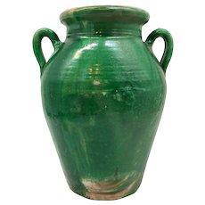 Large Rare Antique French Tornac Olive Jar