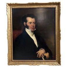 Antique Portrait Oil on Canvas English c. 1830