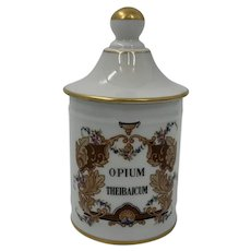 Vintage French Opium Apothecary Jar
