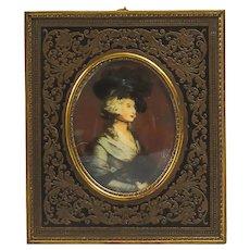 French Boulle Miniature Portrait