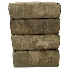 Antique Vellum Book Set. Works of John Chrysostom, Arch Bishop of Constantinople. Circa 1587