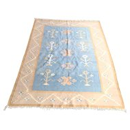 """Vintage Hand Knotted """"Tree of Life"""" Indian Darien Rug"""