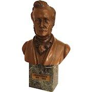Vintage Bronze Bust of W.R. Wagner