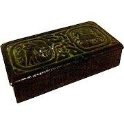 Tiffany Studios Zodiac Stamp Box 802