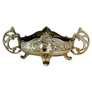 Antique Art Nouveau French Metal Jardiniere