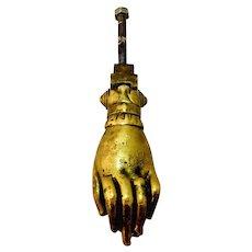 Antique Victorian Brass Hand Door Knocker