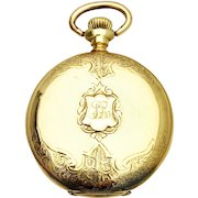 Antique 14k Omega Swiss Ladies Hunter Pocket Watch. Circa 1902-03