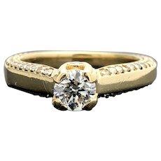14k Yellow Gold Diamond Engagement Ring 1.19TCW