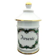 Vintage French Limoges Apothecary Druggist Jar Arsenic