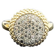 14k Yellow Gold Diamond Cluster Ring 0.275TCW