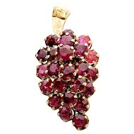 14k Yellow Gold Ruby Grape Cluster Ring 5.06TCW
