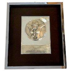 "Salvador Dali 1977 Sterling Silver Relief titled ""La Fecundidad"