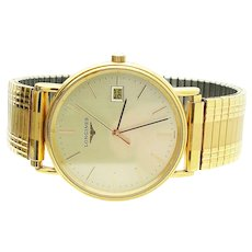 Longines Presence Gold Plated Gentleman's 32mm Wrist Watch