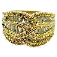 $5400 Vintage 14k Yellow Gold Diamond Ring 1.35TCW