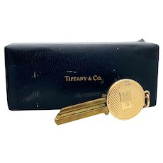 Tiffany and Co. 14k Gold and Brass Uncut Housekey w/box