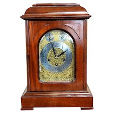 Antique 1910 German Junghans Bracket Clock w/Westminster Chime