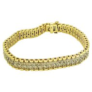 14k Yellow Gold Diamond Bracelet 4.48TCW