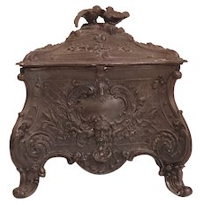 FRENCH 18th CENTURY Metal Bird Jewellery Casket. One of a Kind.