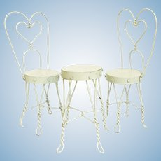 Miniature Ice Cream Parlour Table and Chairs Set