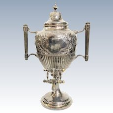 Antique Silverplated Working Samovar