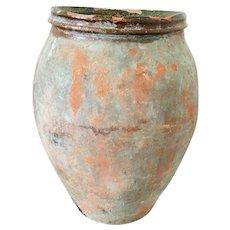 Antique French Olive Jar