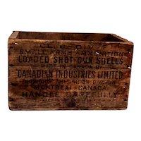 Canadian Ind. Ltd. Ammunitions Wood Crate