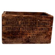 Canadian Ind. Ltd. Ammunitions Wood Crate
