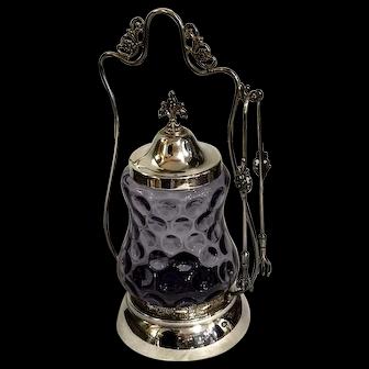 Victorian Rare Purple Glass Pickle Jar
