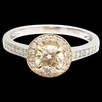 14k Gold VS-2 GIA Diamond Engagement Ring 0.92TCW