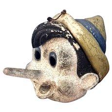 Vintage American Folk Art  - Pinocchio Mask
