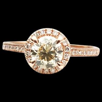 14k Rose Gold 0.70 VS-2 GIA Diamond Engagement Ring 0.87TCW