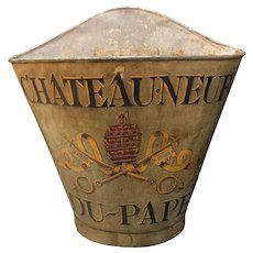 Vintage French Grape Pickers Bin Châteauneuf-du-Pape.