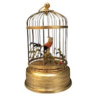 Vintage Japanese Continental Singing Birdcage