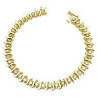 14k Yellow Gold Diamond Tennis Bracelet 3.80TCW w/ appraisal